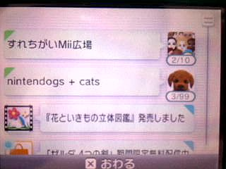 nintendogs+cats 99人バグ